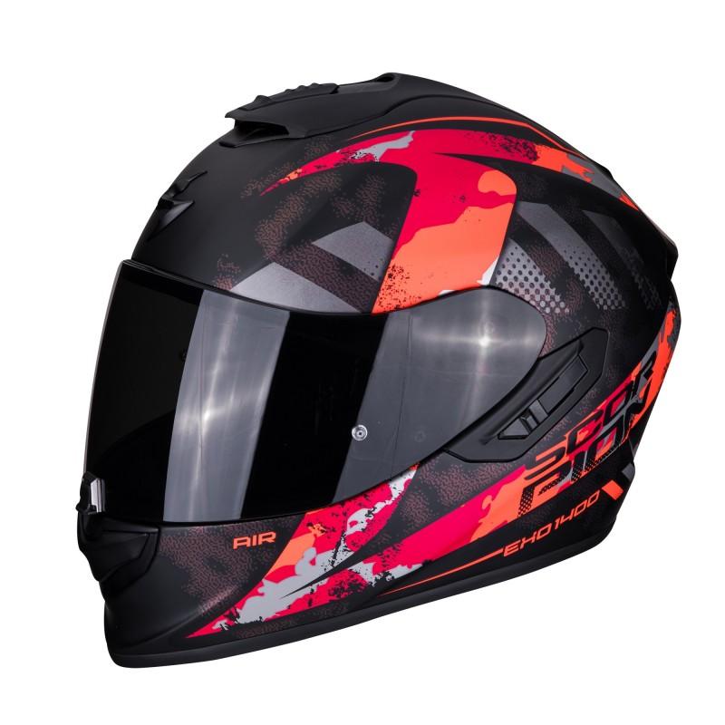 CASCO SCORPION EXO-1400 AIR SYLEX MATT BLACK-RED